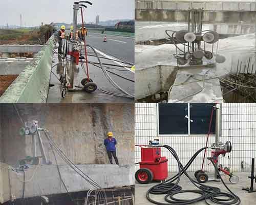 Construction of Hydraulic Diamond Wire Saw