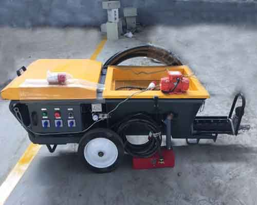 Automatic Mixing and Spraying Machine for Gypsum Mortar