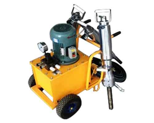 Hydraulic Rock Splitter with Electric Motor