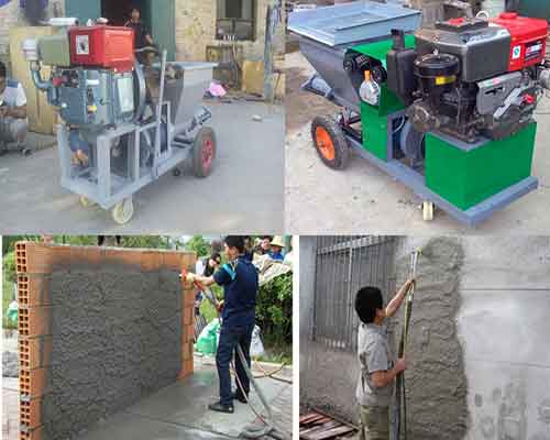 Hot Sale Mortar Spray Machine with Diesel Engine