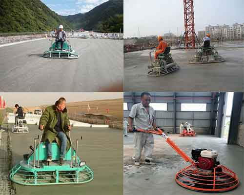 Operation of Power Trowel Machine