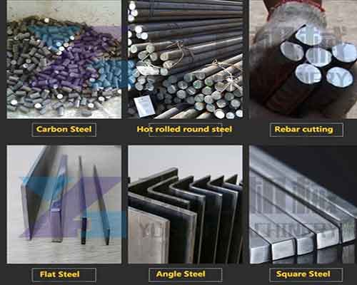 Different Types of Steel Bars The Machine can Cut