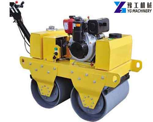 Double Drum Walk Behind Roller for Sale