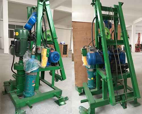 Two Phase High Power Electric Small Fold Water Well Drilling Machine