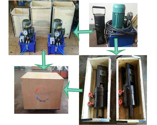 Packing of Rebar Extrusion Machine