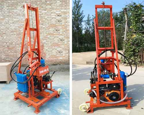 Gasoline Hydraulic Small Water Well Drilling Rigs