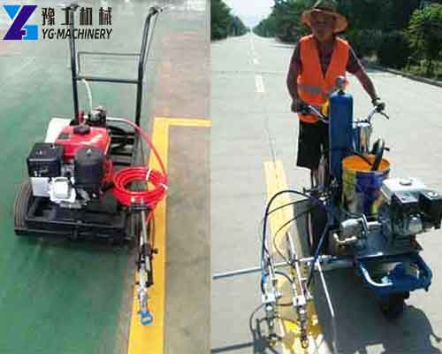 Application of Hand Push Cold Paint Road Marking Machine