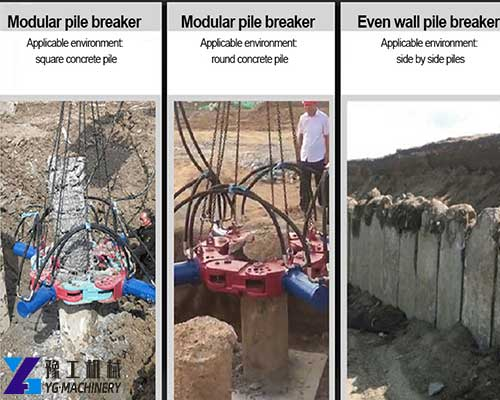 Hydraulic Pile Breaker Machine
