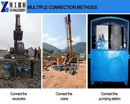 Multiple Connection Methods of Pile Breaker