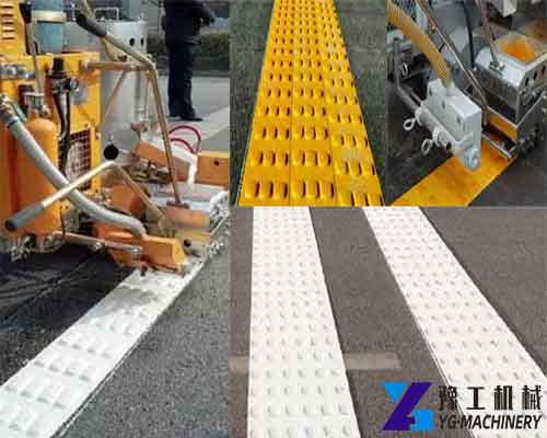 Thermoplastic Road Marking Machine for Vibration Line