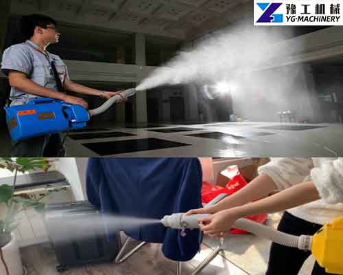 Use of Disinfectant Sprayer Machine