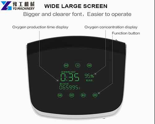 Wide Large Screen of Oxygen Concentrator