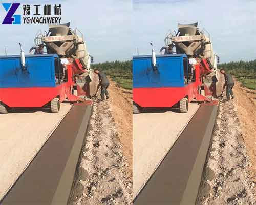 The Effect of Using the Curb Slipform Machine