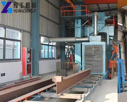 Pass Through Type Steel Plate Shot Blasting Machine