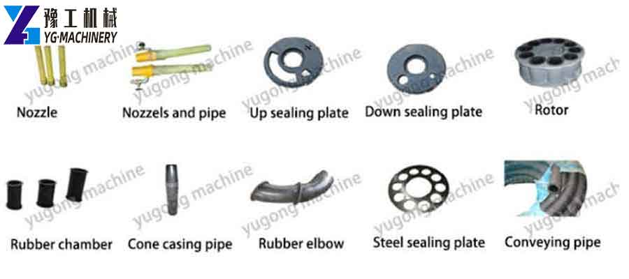Spare Parts of Shotcrete Equipment