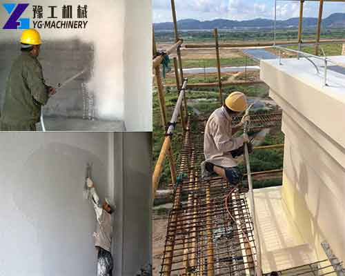The Application of YG Wall Putty Machine