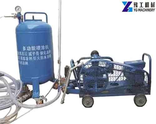 White Cement Spray Machine